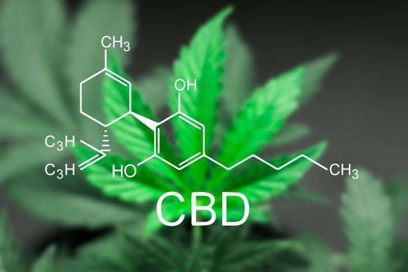 Chemische Formel von CBD